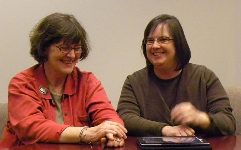Laura Burtle and Nancy Seamans