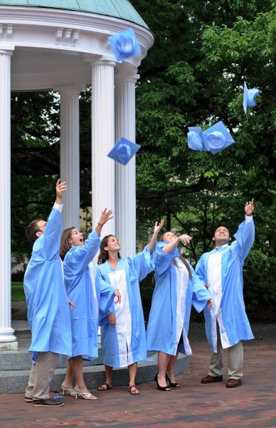 Graduates at UNC at Chapel Hill