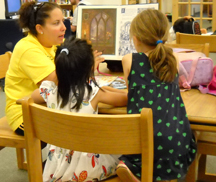 photo of children in the library