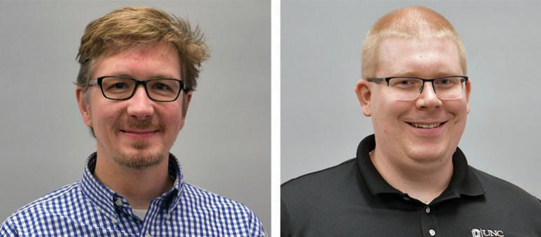 Portraits of Aaron Brubaker and Brian Nussbaum